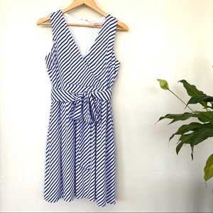LOFT wrap front midi dress